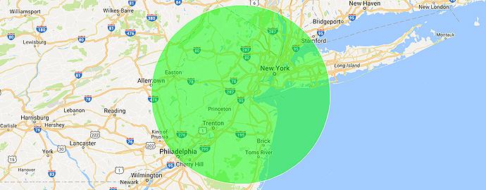 JandR Telecom - Map NJ